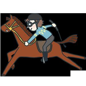 フリー素材お尻にムチを入れられる競走馬のイラスト Season Stock Iroha