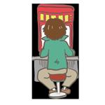パチンコ台に向かって座っている男性のアイキャッチ