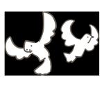 白い鳩が飛んでいる様子のアイキャッチ