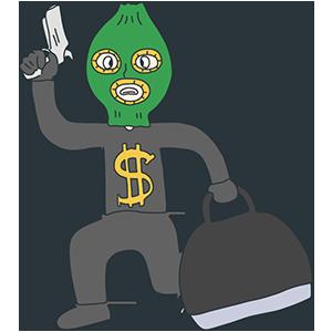 銀行強盗の日のイラスト