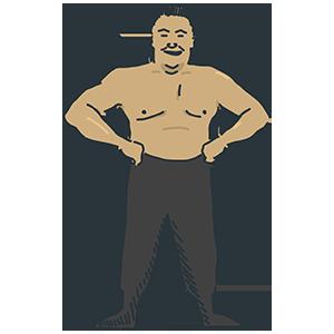 プロレスラーのイラスト