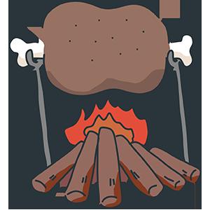 マンモス肉のイラスト