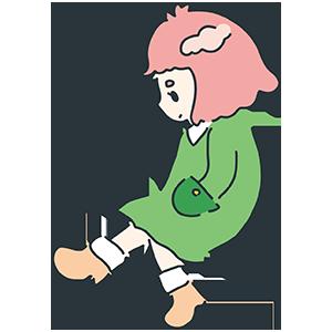 春っぽい女の子のイラスト