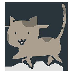 茶色の猫のイラスト