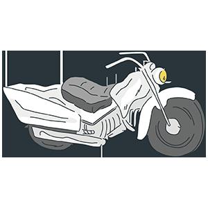 白いバイクのイラスト