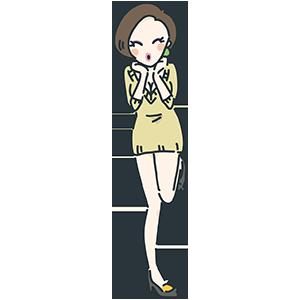 ミニスカートの女性のイラスト