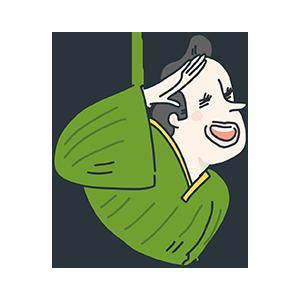 フリー素材着物を着ている外国人のイラスト Season Stock Iroha