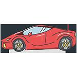 赤いスポーツカーのアイキャッチ