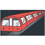 赤い地下鉄のアイキャッチ