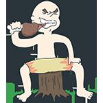 肉を引きちぎる男性のアイキャッチ