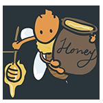 蜂蜜を運ぶ蜂のアイキャッチ