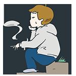 タバコを吸っている男性のアイキャッチ