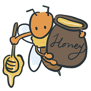 蜂蜜を運ぶ蜂のイラスト