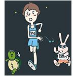 サングラスをはずすマラソン選手のアイキャッチ