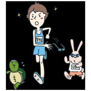 サングラスをはずすマラソン選手のイラスト