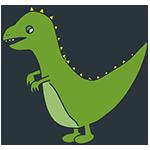 緑の恐竜のアイキャッチ