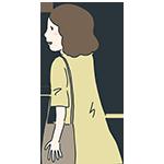 女性の後ろ姿のアイキャッチ