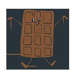 チョコレートのキャラクターのアイキャッチ