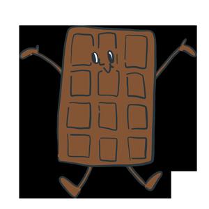 チョコレートのキャラクターのイラスト