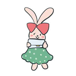 うさぎのキャラクターのイラスト