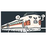 電車のキャラクターのアイキャッチ