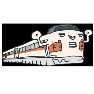 電車のキャラクターのイラスト