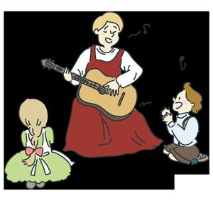 フリー素材歌を歌っている人たちのイラスト Season Stock Iroha