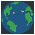 地球のキャラクターのアイキャッチ
