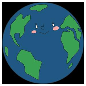 地球のキャラクターのイラスト