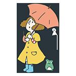 傘をさしている女の子のアイキャッチ
