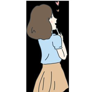 女性の後ろ姿のイラスト