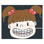 歯列矯正をしている女の子のアイキャッチ