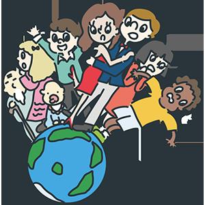 世界人口の日のイラスト