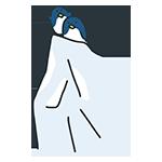 氷の上にいるペンギンのアイキャッチ