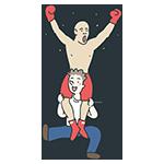 優勝したボクサーのアイキャッチ