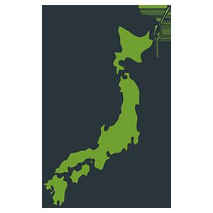 フリー素材日本地図のイラスト Season Stock Iroha
