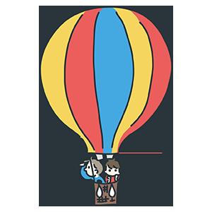 熱気球のイラスト