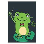 指揮棒をふるカエルのアイキャッチ