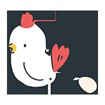 卵を産むにわとりのアイキャッチ