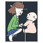 赤ちゃんと女性のアイキャッチ