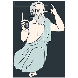 哲学者のイラスト
