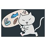 プラカードを持つ猫のアイキャッチ