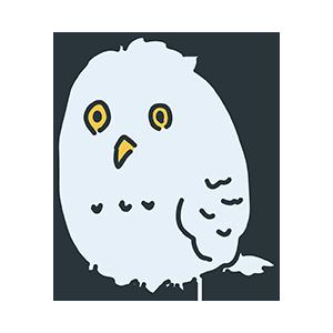 グレー色の鳥のイラスト