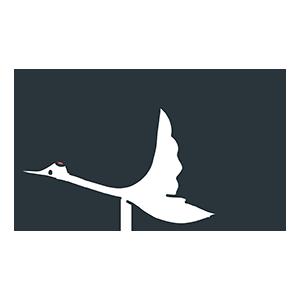 飛び立つ鶴のイラスト