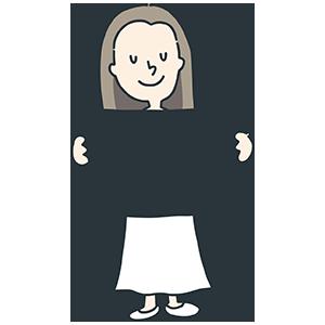 メッセージボードを持つ人のイラスト