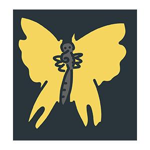黄色い蝶々のイラスト