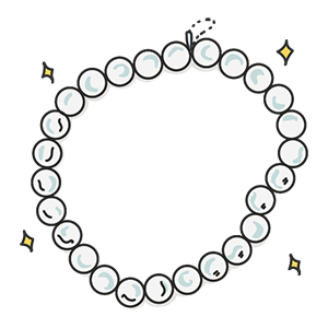真珠のネックレスのイラスト