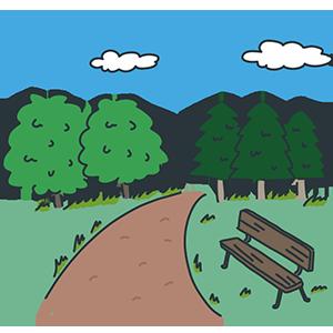 自然公園の日のイラスト