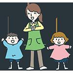 幼稚園児と先生のアイキャッチ
