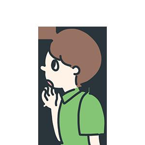 緑の服を着た男性のイラスト